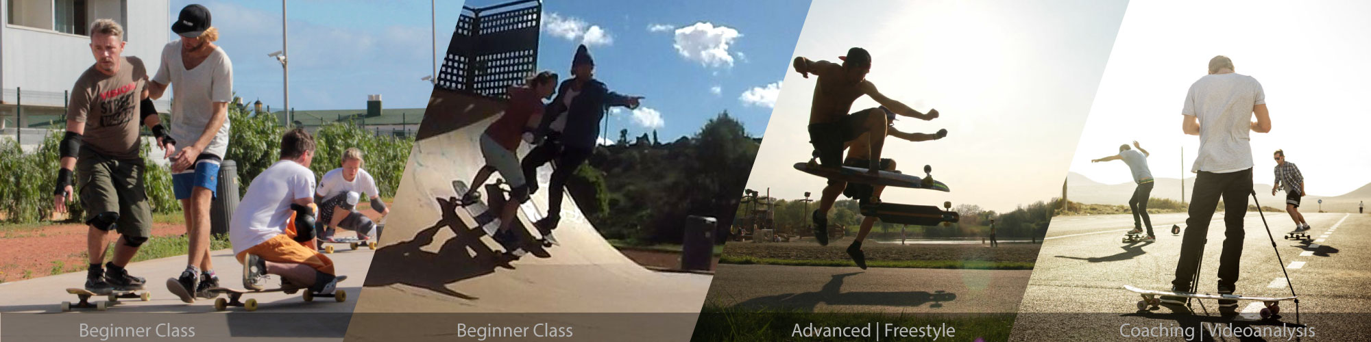 Overview of the Longboard-Masterclass skate lessons for Beginner and advanced and the personal coachings.