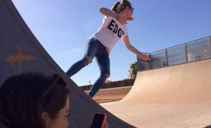 Skate lesson in Corralejo, Fuerteventura.