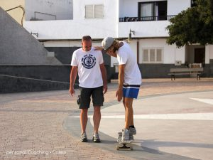Longboard Lesson focused on you progress at the personal Coaching in Cotillo, Fuerteventura.