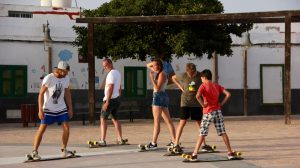 Family Longboard Class with Carl in Fuerteventura