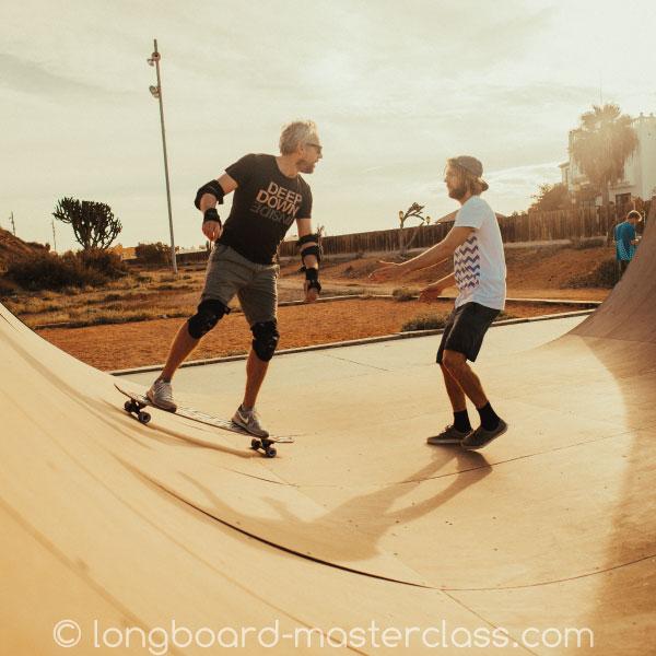 Longboard Privat Unterrichts-Stunde im Skatepark Bamberg.