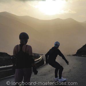 Longboarden auf Fuerteventura