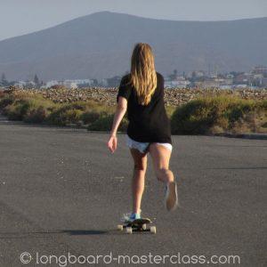Longboarden auf Fuerteventura.