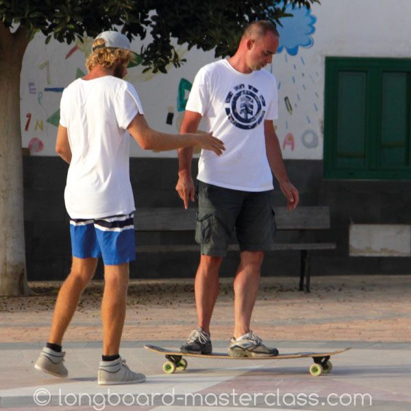 Longboard Coaching im Trainings Camp auf Fuerte.