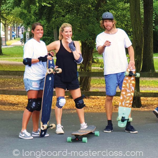 Longboard Einzel Session mit Freunden